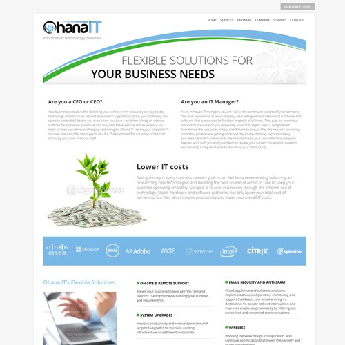 Website design for Ohana IT