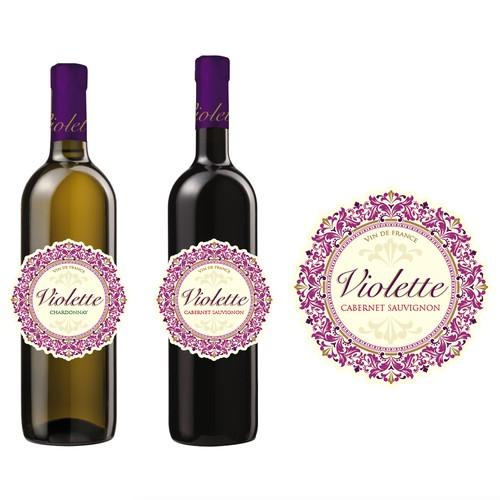 Violette wine label