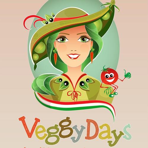 Unique mascot for vegan restaurant