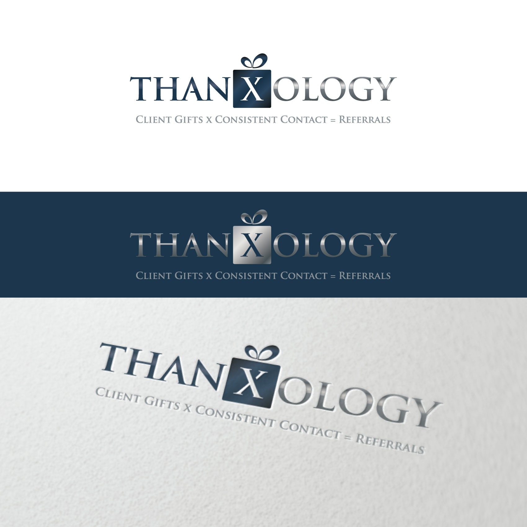 Design a marketing/referral advertising company's logo for thanxology.
