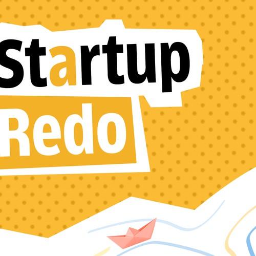Podcast Cover Design for 'Startup Redo'