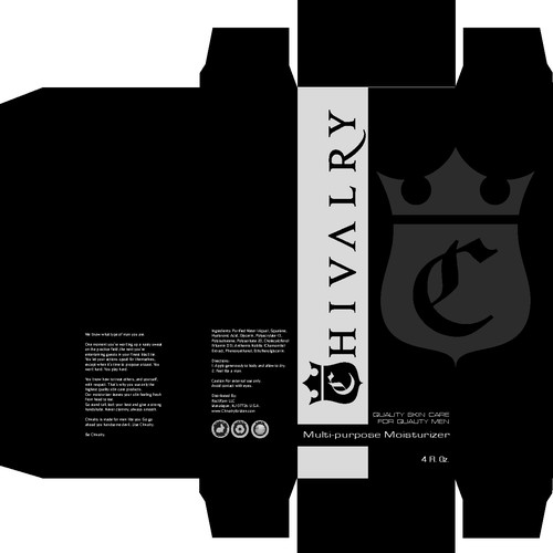 Create the next print or packaging design for Chivalry