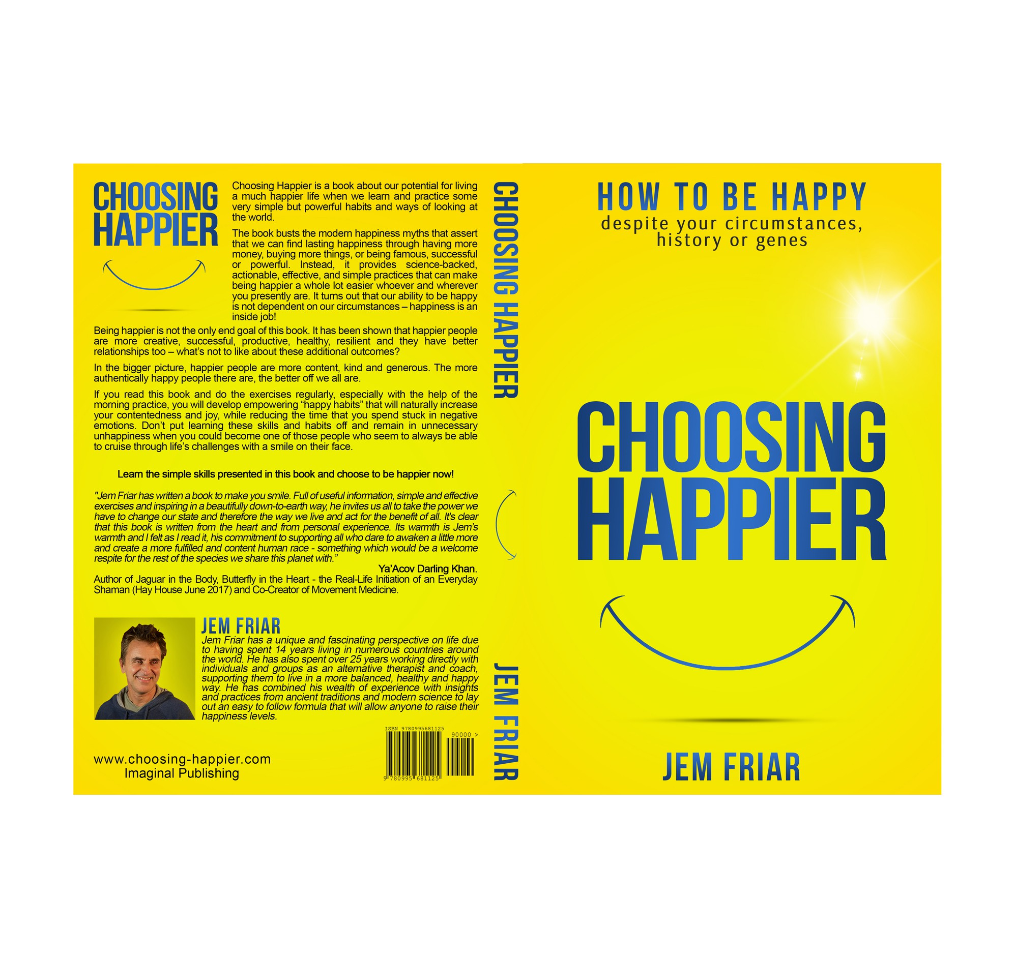 Happiness book needs a simple, uplifting font based cover with a smile.