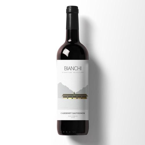 Bianchi wine label design