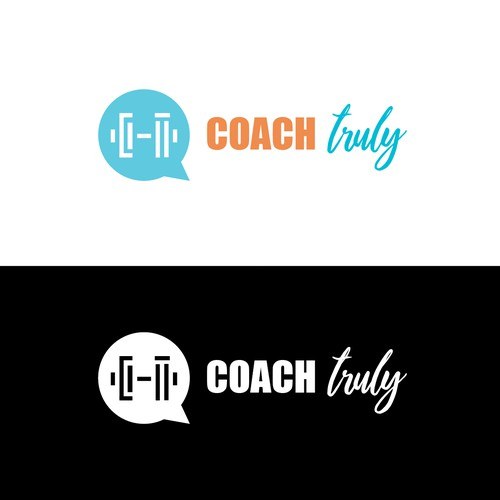 Logo design for a personal trainder giving virtual feedback.