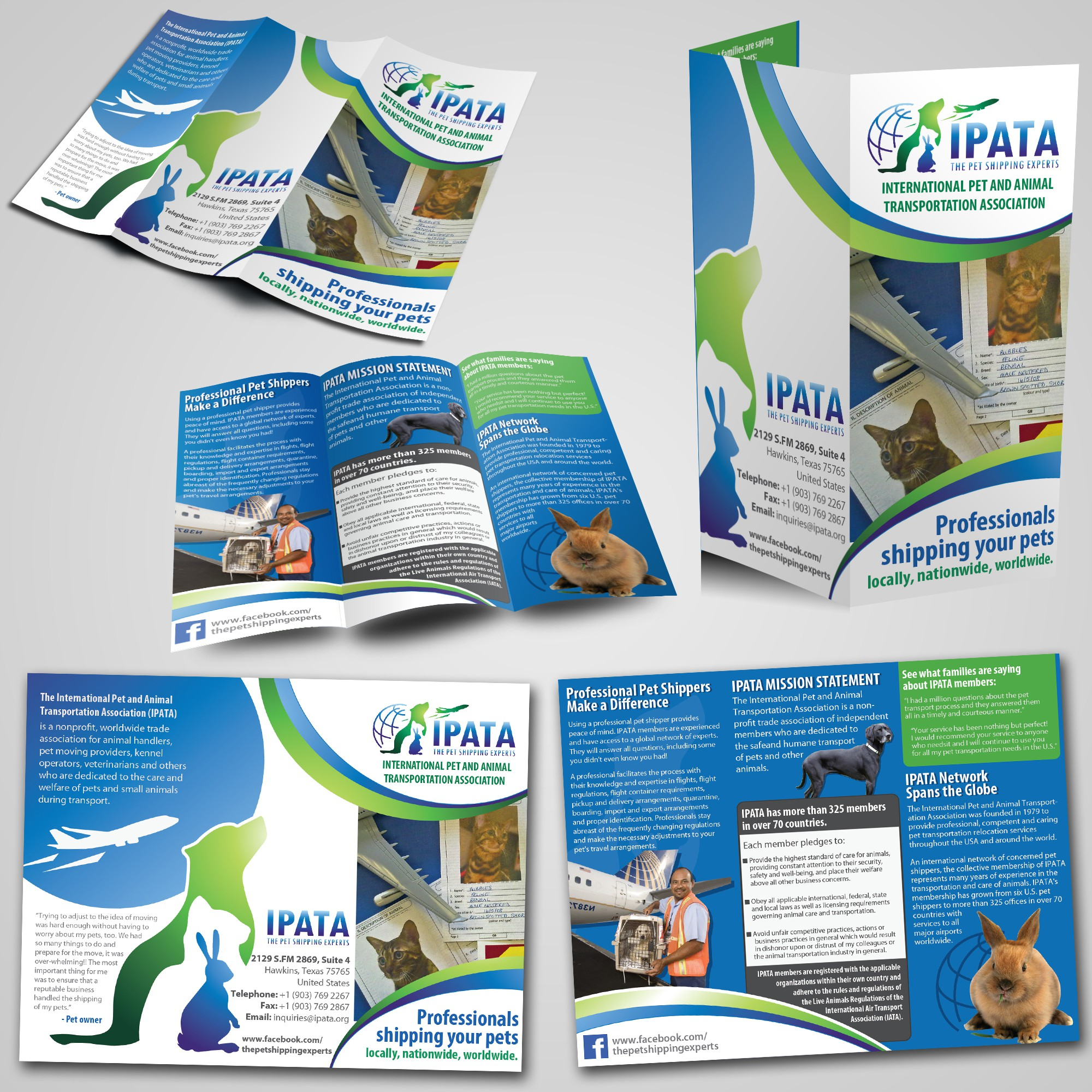 print or packaging design for International Pet and Animal Transportation Association (IPATA)
