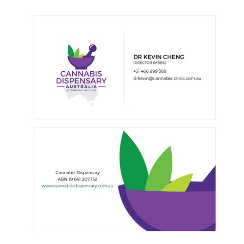Cannabis Dispensary businesscard