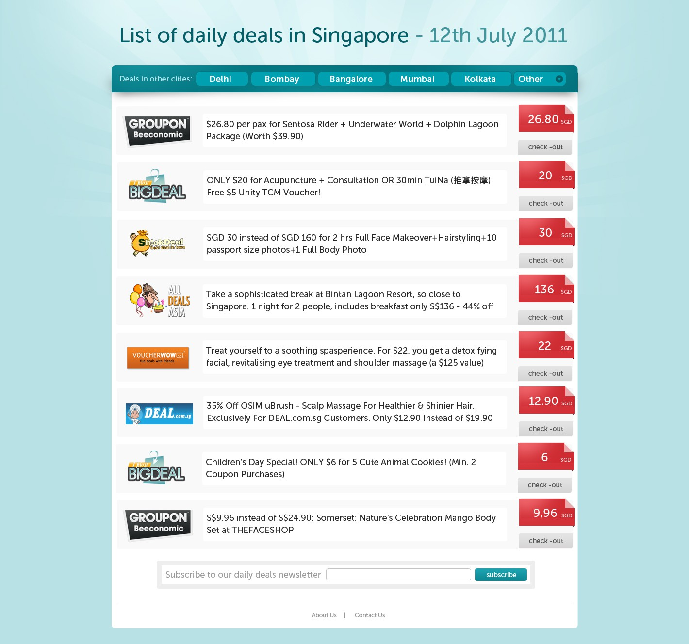 The Daily Deal Aggregator Website