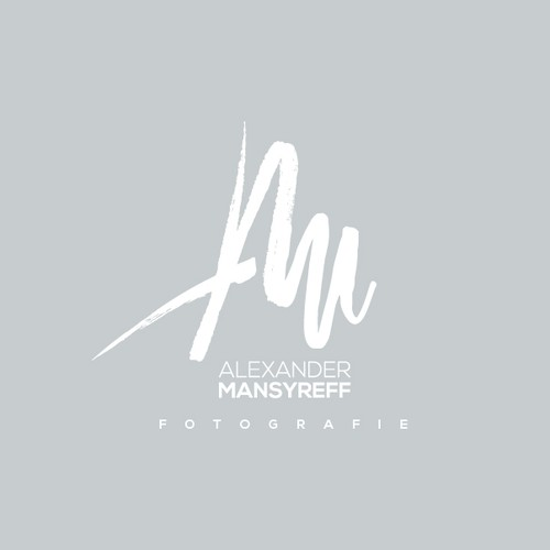 Hand drawn monogram for a photographer