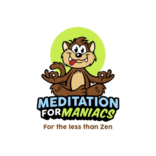 Logo with character for mediation app.