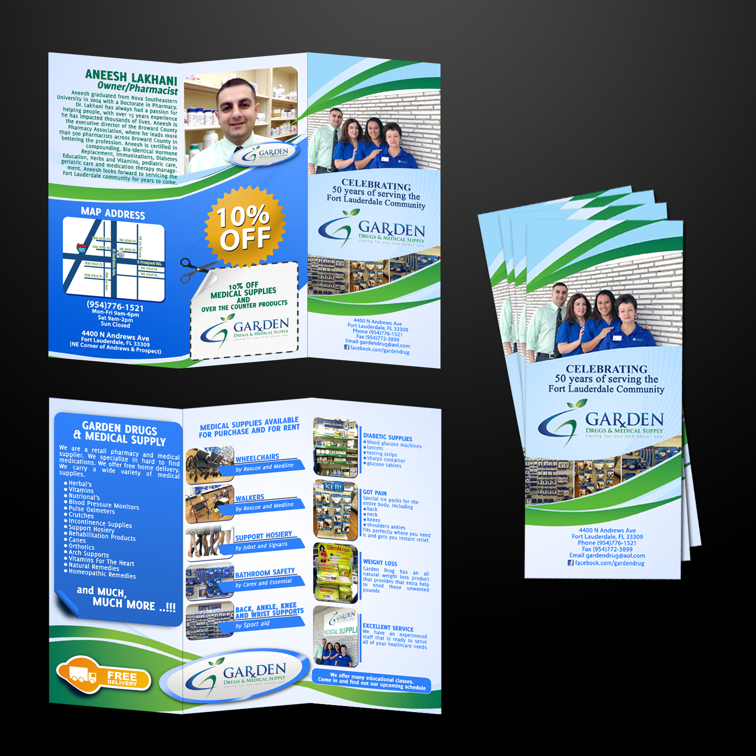 Help Garden Drugs & Medical Supply with a new brochure