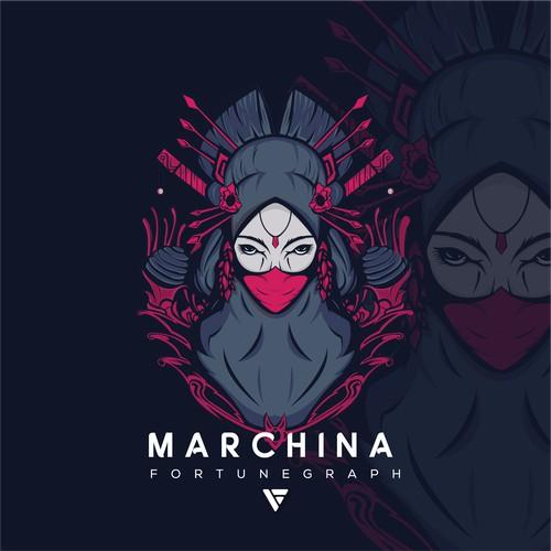 geisha with a mask