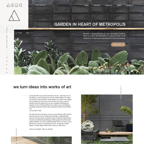 Website for architecture bureau