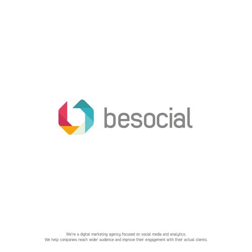 BeSocial Logo Design
