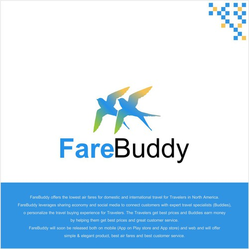 Logo for FareBuddy - a technology service for lowest airfares