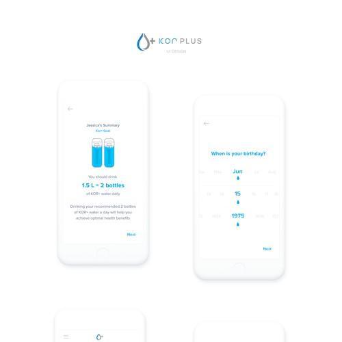 Kor Plus App Design