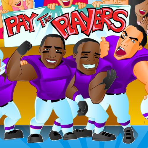College Football - Cartoon Style Illustration - Brand Header