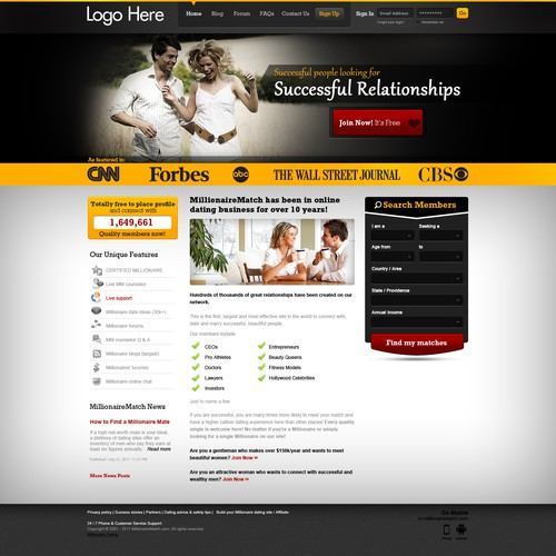 Love Site Website concept