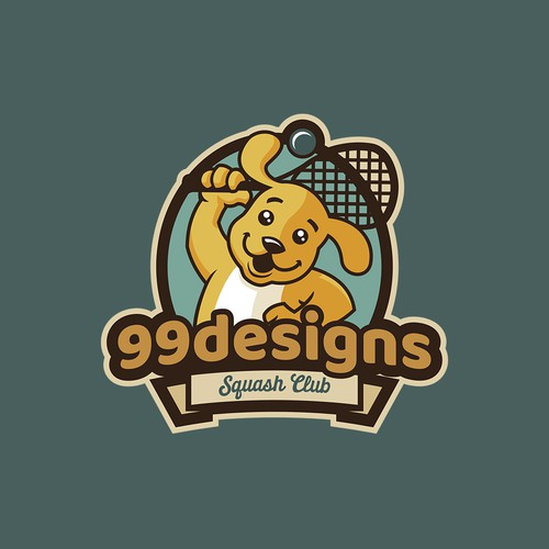 Character logo design for 99d squash team