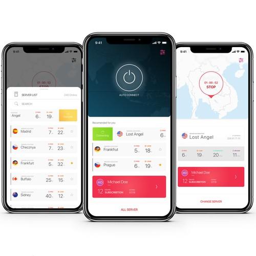 VPN App concept