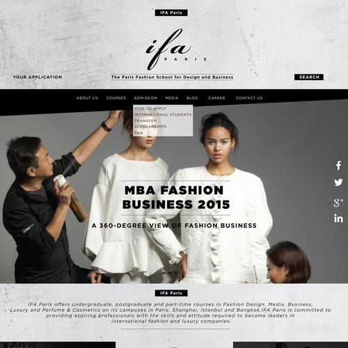website of a Fashion School