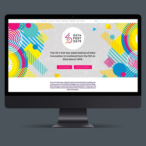 Website design For DataFest Scotland