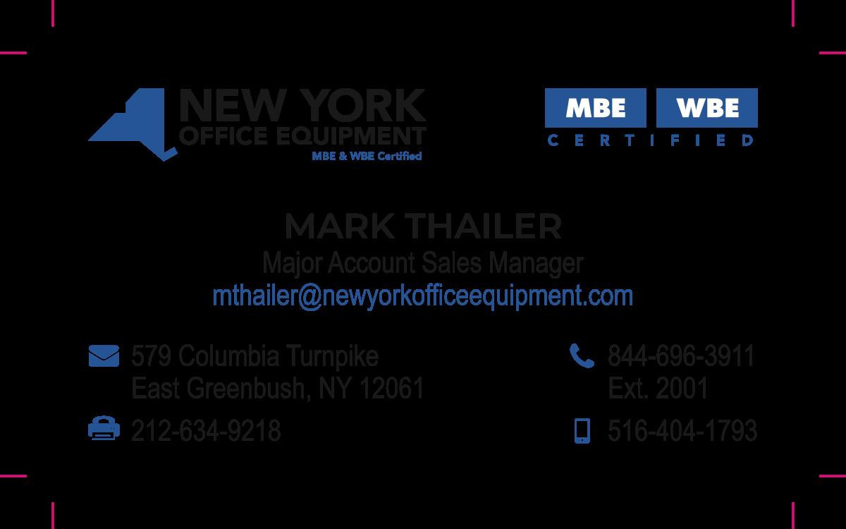 Mark Thailer Business Cards