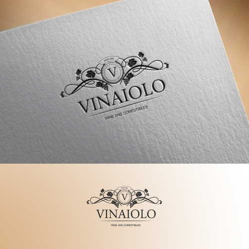 Elegant logo for wine and comestibles