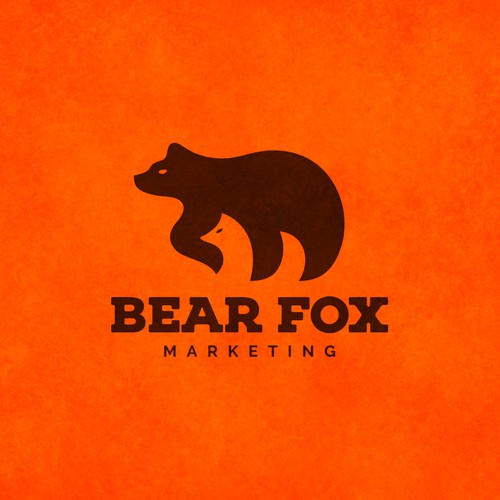 Creative logo for Bear Fox Marketing.