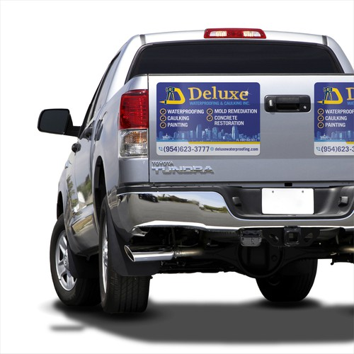 Magnetic Car Sign for Waterproofing Company