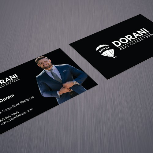 Simple and professional business card for realtor