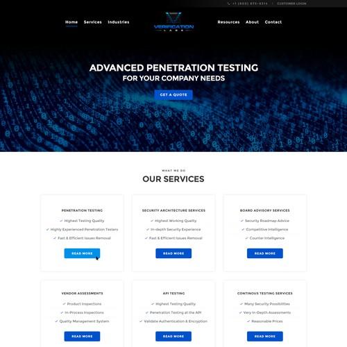 Verification Labs Homepage Design