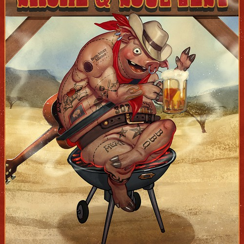 BBQ fest poster