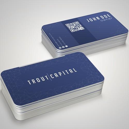 Modern Techno Business Card
