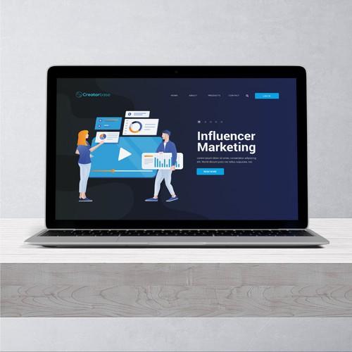 Marketing website concept