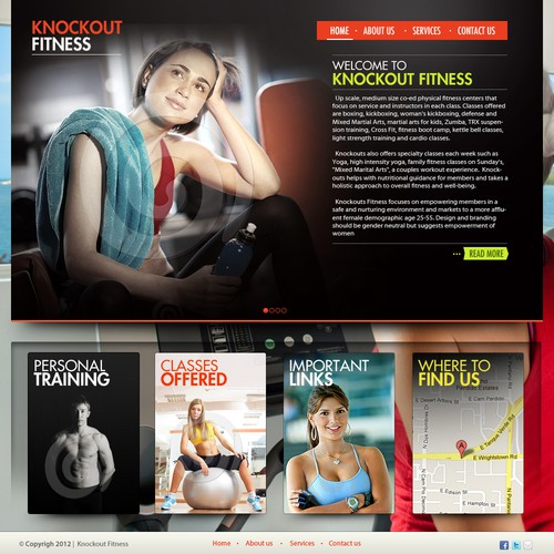 Knockout Fitness - Landing Page