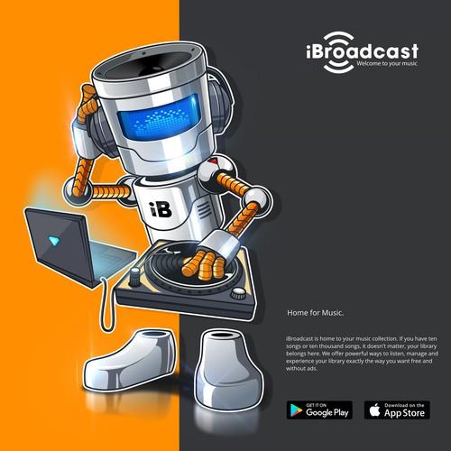 iBroadcast Robot Character