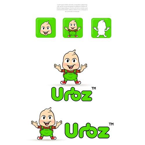 """Urbz"" Logo design character"