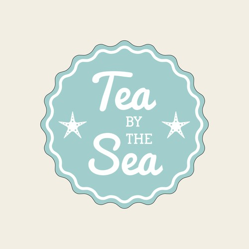 Tea by the Sea ~ Cornwall creating a vintage style logo