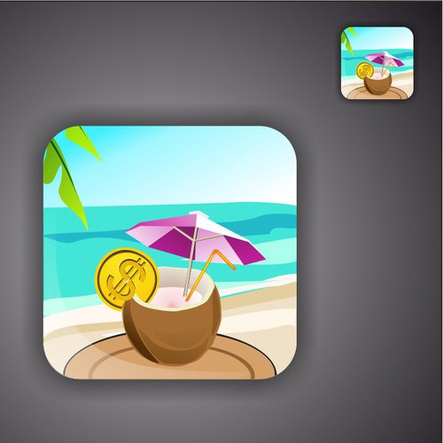 New icon for iPad game - Slots Vacation - Guaranteed!