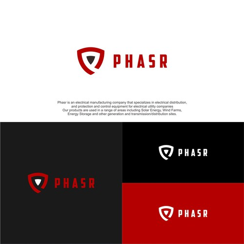 Simple and minimalist logo PHASR