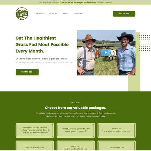 Web design for a dairy product
