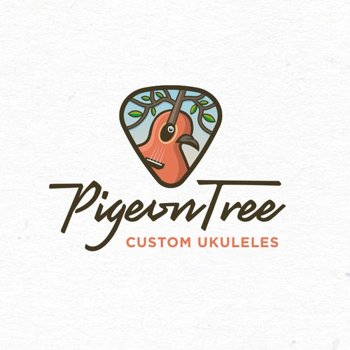 Strong creative approach for the PigeonTree custom guitars & ukuleles