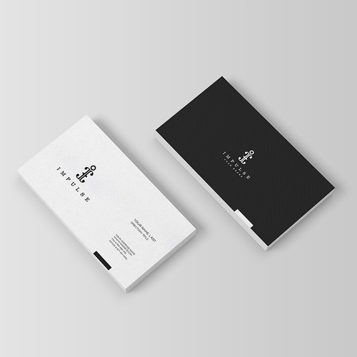 create a logo and a business card, minimalist, innovative and luxurious
