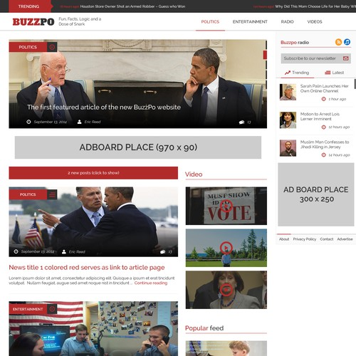 Buzzpo - Feed News Webiste
