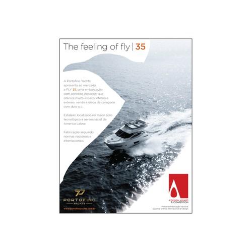 Help Portofino Yachts with a new ad. magazine