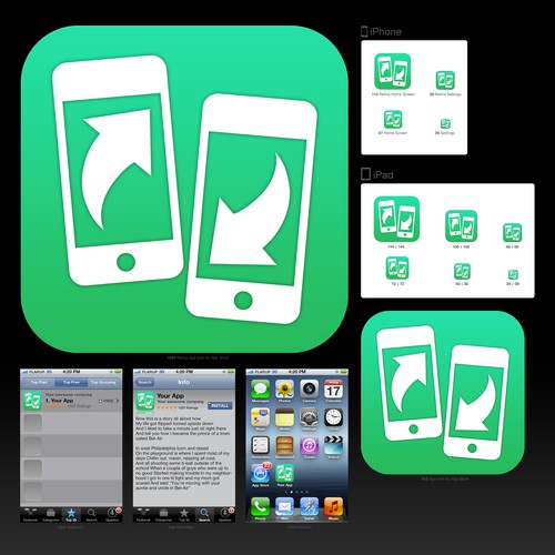 Icon Design for iOS File Transfer App