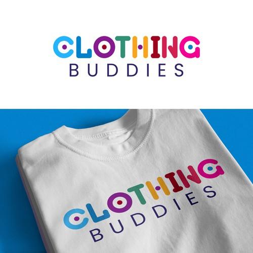Clothing Buddies T-shirt logo design.
