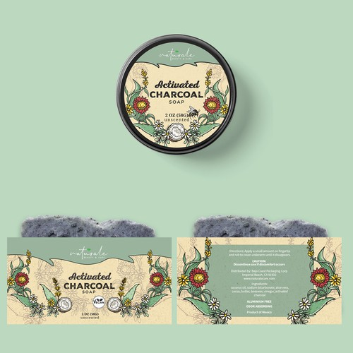 NATURALE cosmetics package design
