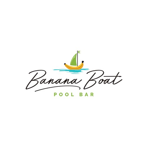 Logo for a cool and fun pool bar